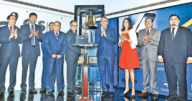 BPPL rang the opening bell to commence trading and celebrate the listing of its shares on the Colombo Stock Exchange recently.. From left: CSE CEO Rajeeva Bandaranaike, Head of Brush-ware Operations, BPPL, B.D. Prasad Devapriya Perera, BPPL Finance Director Vaithilingam Selvaraj, Chairman, BPPL, Sarath Amarasinghe, BPPL, MD Dr. Anush Amarasinghe, CSE Chairman Vajira Kulatilaka, Consultant, CT CLSA, Marianne Page, CSE Director M. R. Prelis and CEO, CT CLSA Capital, Zakir Mohamedally.