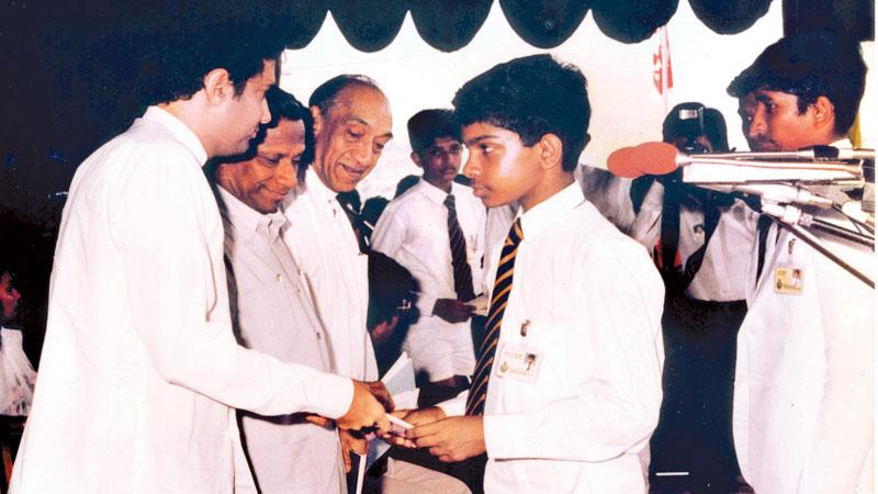 The opening ceremony of 68 house Model Village - Rajasisugama in the Nivitigala Electorate on 16 August 1984 with President J. R. Jayewardene, Prime Minister Ranasinghe Premadasa and Education Minister Ranil Wickremesinghe as chief guests. This Model Village was developed with the participation and support of students and teachers of Royal College, Colombo.