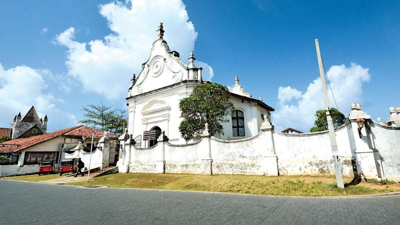 The Dutch Reformed Church stands inside the Galle Fort.