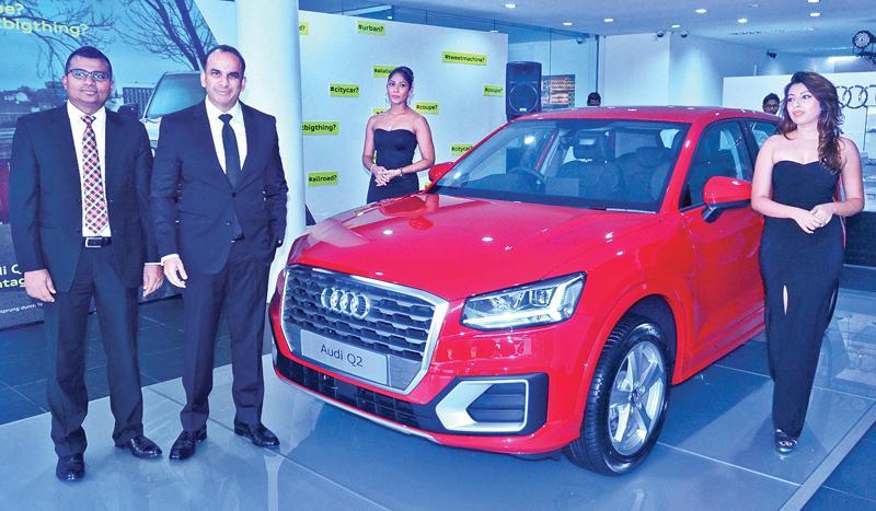 At the Audi Q2 launch in Colombo last week. Pic: Vipula Amarasinghe