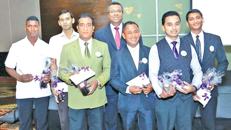 Awards winners with Sector Head - City Hotels Rohan Karr