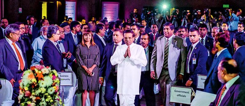 President Maithripala Sirisena yesterday attended a high-level business/economic dialogue in Dhaka, organised by the Metropolitan Chamber of Commerce and Industry, Dhaka (MCCI) and Bangladesh Investment Development Authority (BIDA) in collaboration with the Ministry of Foreign Affairs of Bangladesh.