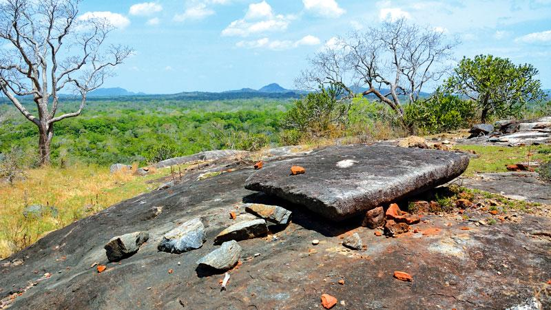 The vandalized archaeological remains at Veheradiulana
