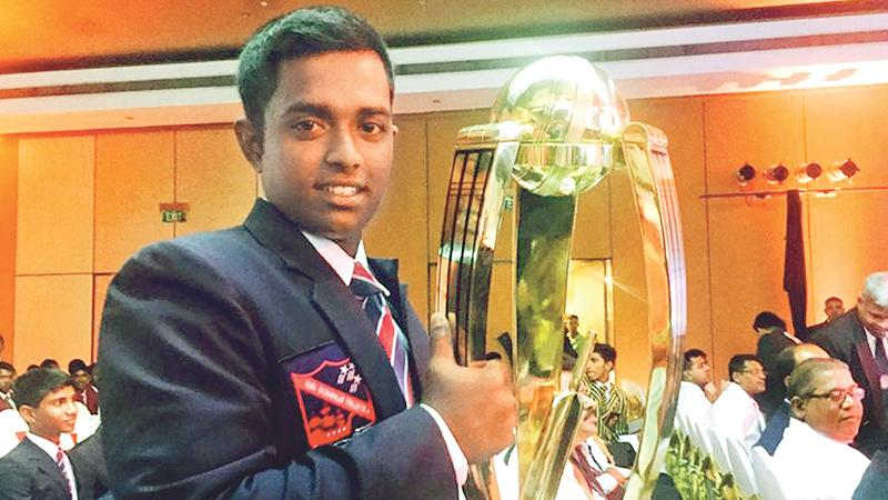 Charith Asalanka of Richmond College,  Galle has won the prestigious title during  last two years to join the select band