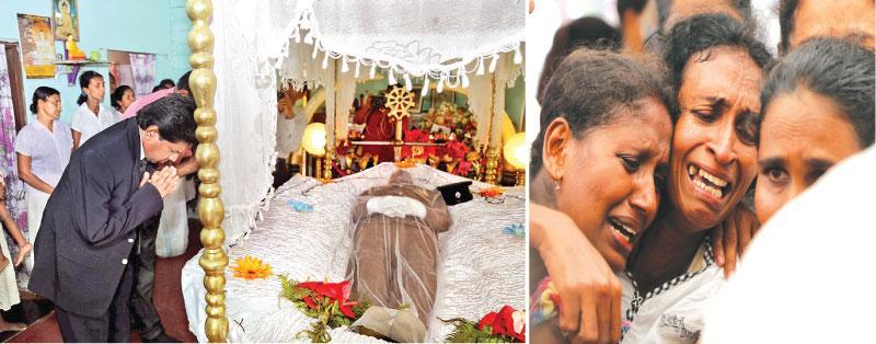 Judge M. Ilancheliyan pays his respects to slain cop SI Hemachandra