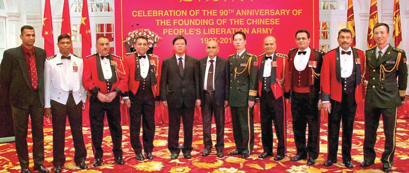 Chinese Ambassador and senior Officials in attendance at the ceremony