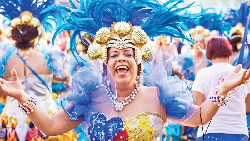 A Carnival Queen could be wearing up to 4,000 ostrich feathers on her costume alone, vibrant in colour and beautiful to watch, but at the cost of the ostrich's quality of life, which will have been stripped of its feathers twice a year, and left to live in misery, sunburnt and distressed for up to 13 years