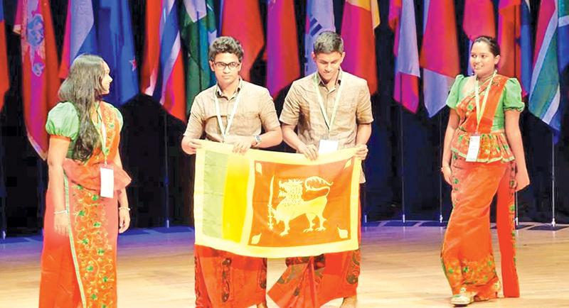 Sri Lankan participants at the opening ceremony of IBO 2017