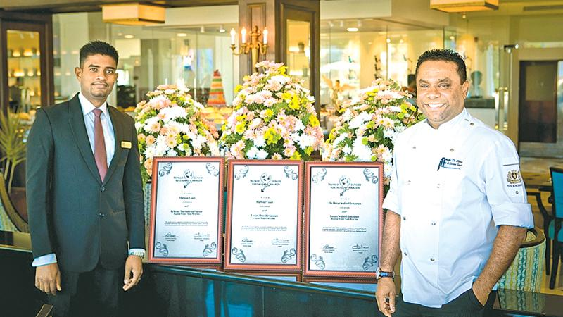 Assistant Director Food & Beverage Iyantha Abeysinghe (on left) and Director Culinary Services Chef Kithsiri de Silva