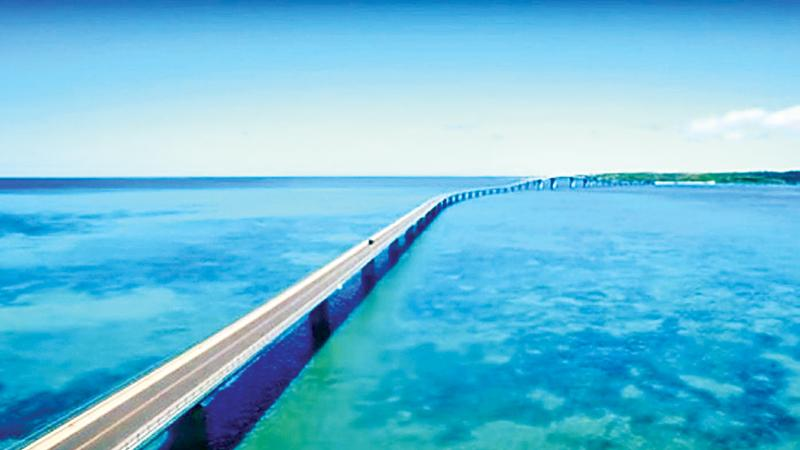 Okinawa's famous 3.5km-long Irabu bridge