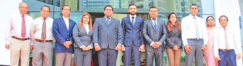 Selected students of 2017 batch with SLITHM administration before departure to Salzburg. From left Probodh Kulatunga (DDG),  Saman Hathurusingha (Principal), Sunil Dissanayake (Chairman, SLITHM), Ms. E.M.T.S. Ekanayaka (Student, SLITHM Bandarawela), W.G.V.M. Raveendra (Student, SLITHM Bandarawela), P.D.G.S. Kumaratunga (Student, SLITHM Colombo), D.D.S.P. Dharmarathna (Student, SLITHM Colombo), Ms. V.P. Nanayakkara (Student, SLITHM Colombo) Buddhika Hewawasam (DG), Ms. N. Damayanthi Sudasinghe (German Langua