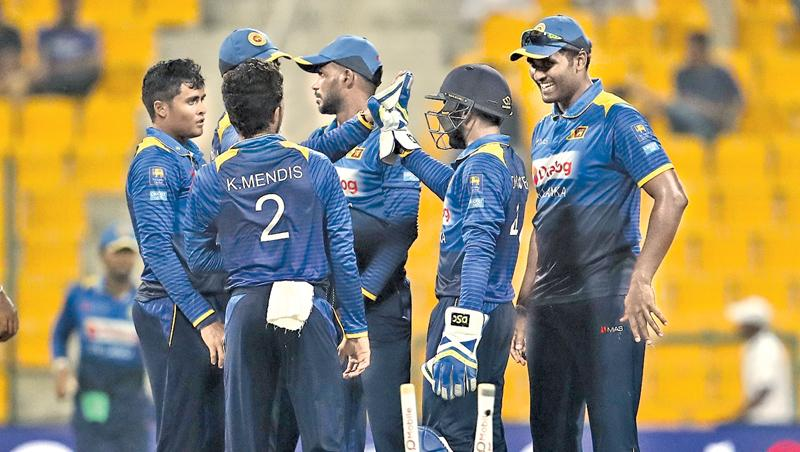 A struggling Sri Lankan one-day team on the brink of another 5-0 whitewash at the hands of Pakistan.