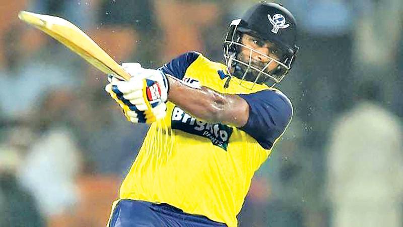 Thisara Perera batting for the World XI will lead Sri Lanka in the 3-match T20I series against Pakistan.