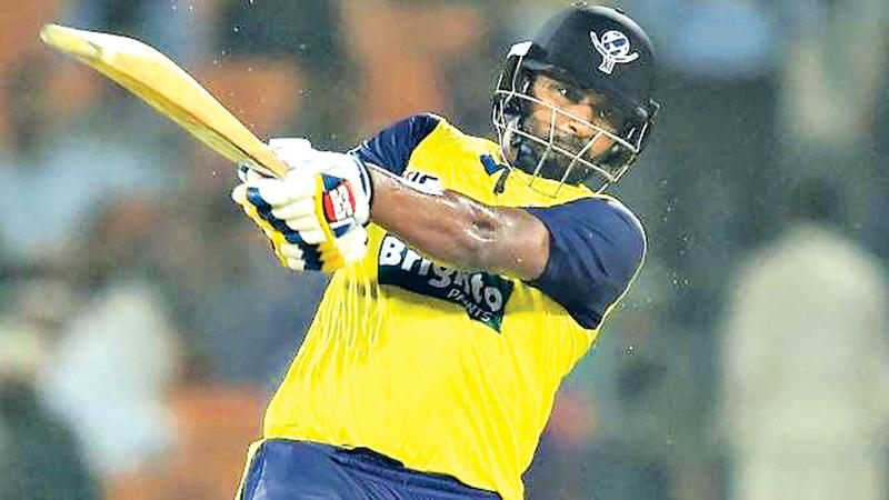 Thisara Perera batting for the World XI will lead Sri Lanka in the 3-match T20I series against Pakistan.