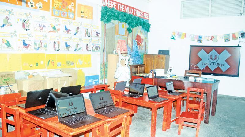 Model Grade 1 Smart Classroom. Pix: Chaminda Niroshana