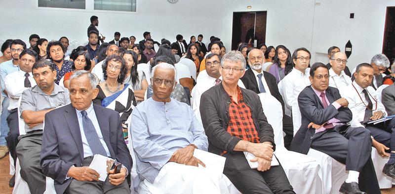 Advisor to the National Housing Development Authority (NHDA), Susil Siriwardena (second from left - first row)   PICTURE BY SULOCHANA GAMAGE