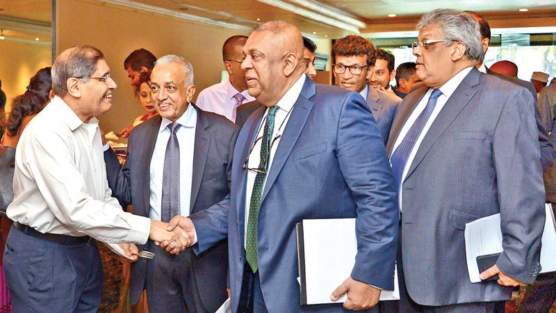 Having presented a budget that clearly sets out plans on fiscal consolidation and achieving a revenue surplus, Minister of Finance and Media, Mangala Samaraweera met corporate leaders and representatives of the business community at a post budget conference at the Hilton Hotel on Friday morning. picture by Shan Rupassara