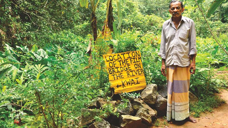 FOND MEMORIES: Samuel Perera with  his hand written signpost