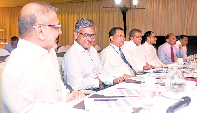 The judges (from left): Ajit Gunewardene, Krishan Balendra, Jonathan Alles Dr. Hans Wijayasuriya, Gihan Cooray, Ronnie Peiris and Ramesh  Shanmuganathan.