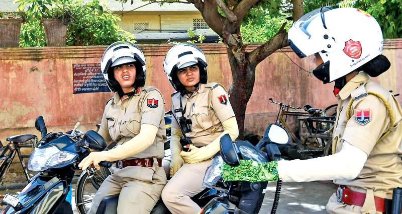 All-female police units are shaking up the male-dominated force in conservative India.  Pic: Chandan Khanna/AFP/Getty Images