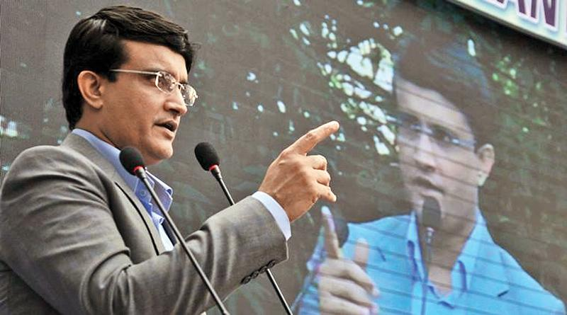 Kolkata: Former Indian cricket captain and Cricket Association of Bengal (CAB) president Sourav Ganguly addresses budding cricketers during the inauguration of the Calcutta Police Surgeants' Institute cricket academy in Kolkata on Friday. PTI