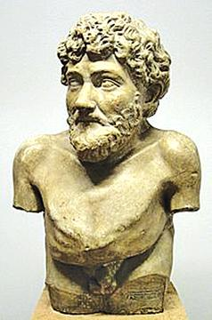 Hellenistic statue claimed to depict Aesop, from the Art Collection of Villa Albani, Rome