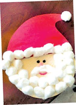 how to make santa claus with paper plates