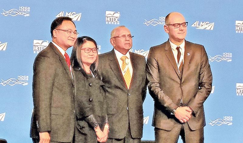 The role of the Port of Colombo in facilitating imports and exports and supporting trade with India and other subcontinent countries was expounded upon by Colombo International Container Terminals at the 2017 Asian Logistics and Maritime Conference in Hong Kong. The presentation made by Chief Business Development Officer of CICT, Tissa Wickramasinghe (second from left) explored aspects of the Port value chain and the importance of the Port of Colombo to its stakeholders including clients, other users, the i
