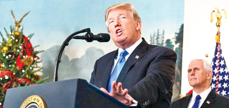 President Donald Trump gave a historic speech to announce that the US would recognize Jerusalem as the capital of Israel.                                          Source: CNN