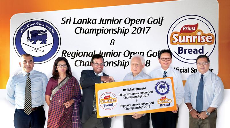 The sponsorship cheque was handed over by Mr. Tan Beng Chuan, Group General Manager, Prima Group- Sri Lanka, Mr. Shun Tien Shing – General Manager Ceylon Agro Industries (Prima Group Sri Lanka) and Sajith Gunaratne – Deputy General Manager of Ceylon Agro Industries (Prima Group Sri Lanka), the promotors of Prima Sunrise Bread. Priath Fernando – President and. Niloo Jayatilake – Council Member and Chairperson of the Junior Golf Development Subcommittee represented the Sri Lanka Golf Union, while Vice-Captain