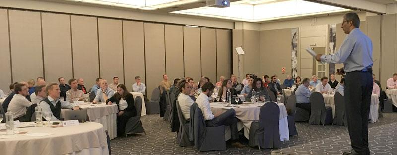 MTI's International HR Consultant Darshan Singh engaging with the  European Audience in Marbella, Spain.