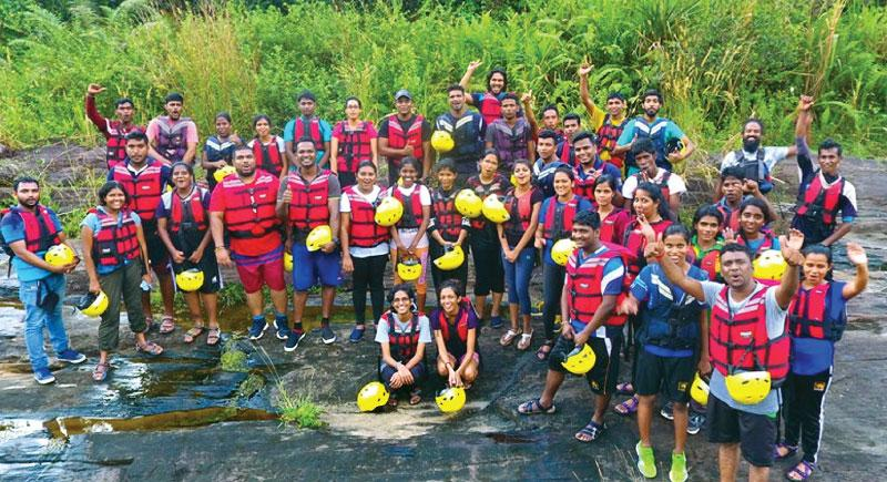 Youth Ambassadors at the three-day adventure camp in Kitulgala