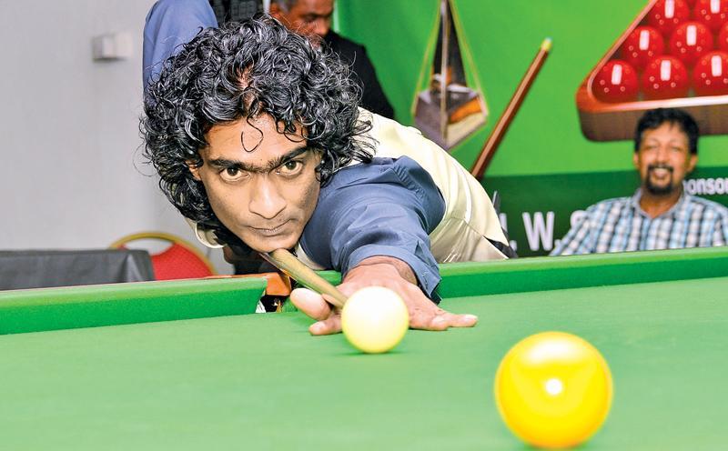 National Champion Susantha Boteju in action                                   Pic: Saman Mendis
