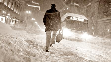 """Boston received over one foot (30cm) of snow as a result of the """"bomb cyclone"""""""