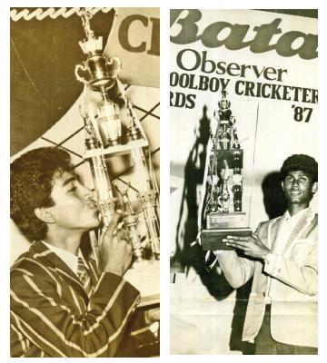 Past winners of the Observer Schoolboy Cricketer -Roshan Jurampathi 1986   -Rohan Weerakkody 1987