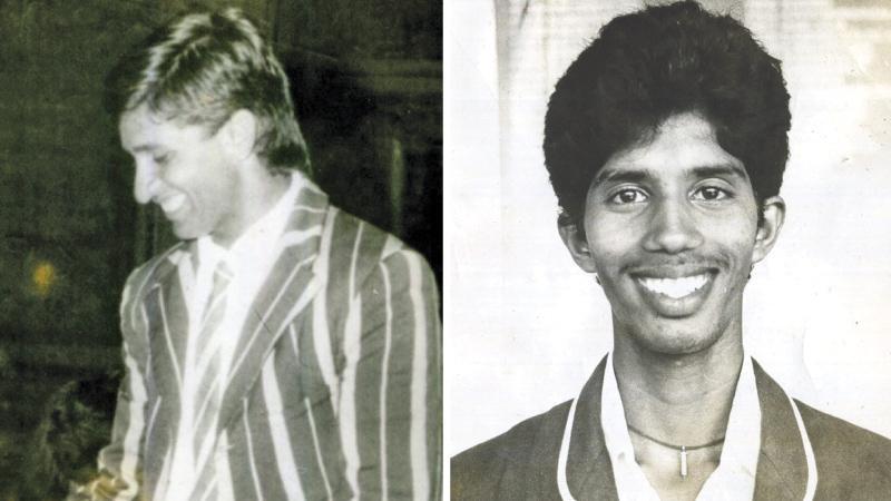 Past winners of the Observer Schoolboy Cricketer : Sanjeeva Ranatunga(1988) and Kumara Dharmasena (1989) PIC: LAKE HOUSE MEDIA LIBRARY