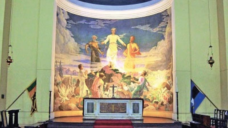 The mural inside celebrates 50 years this year (Painted 1968)