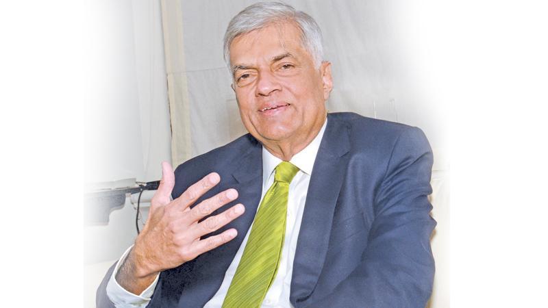 Prime Minister Ranil Wickremesinghe  Pix: Wimal Karunathilake