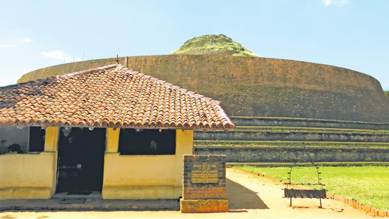 MAGNIFICENT SIGHT: A section of the massive Chaitya of Yudaganawa and shrine-room