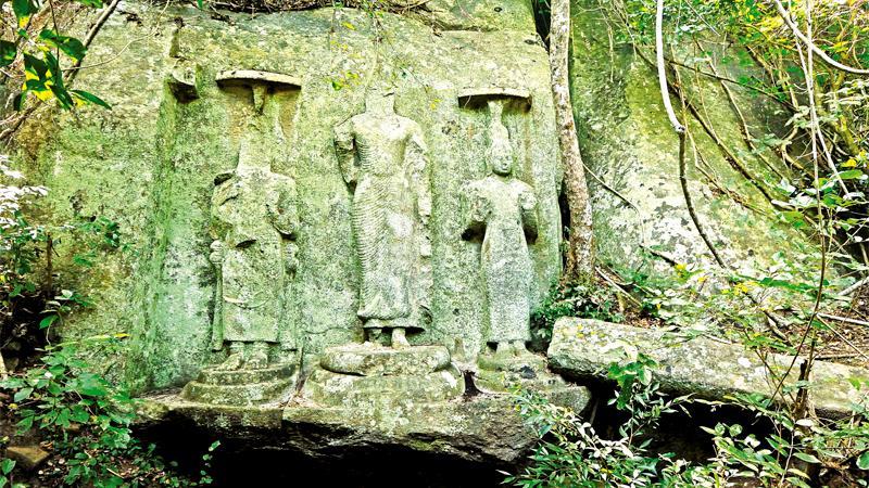 STILL IMPOSING: Fascinating ruins of rock-cut Buddha statues of Budupatuna