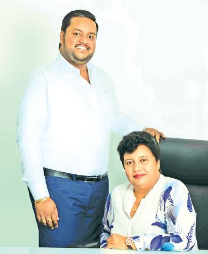 Landmark Developers Chairperson Neelangani Hapangama and Managing Director Eksith Hapangama