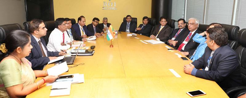BOI officials in discussion with members of the IMC delegation