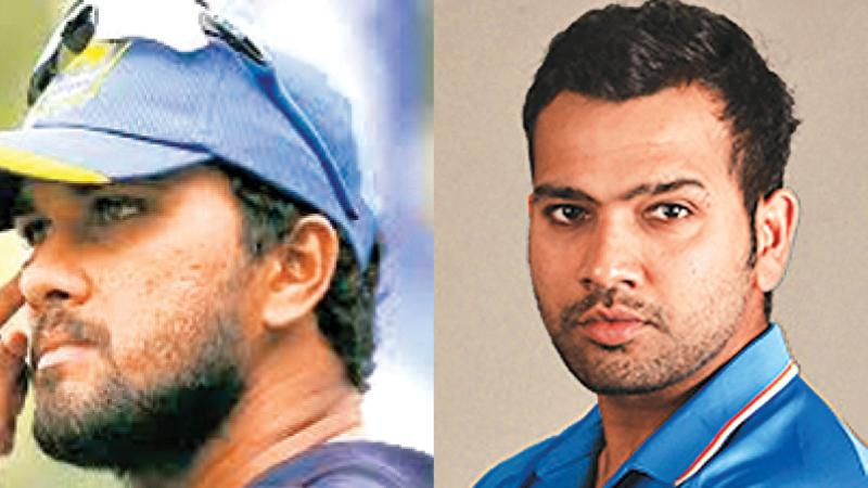 Dinesh Chandimal and Rohit Sharma