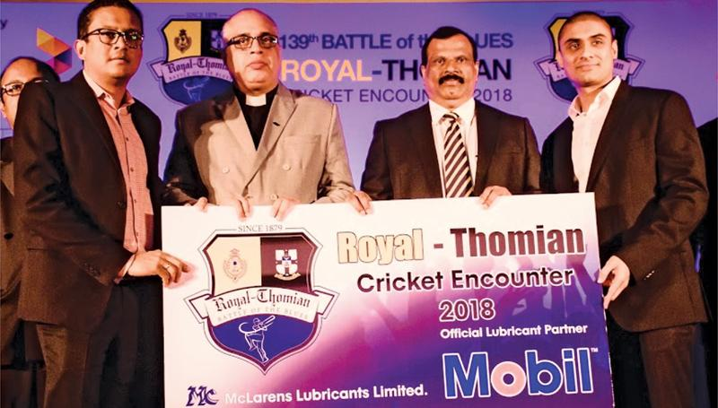 From left to right: Dinesh Jayawardana, Group Joint Managing Director - McLarens Group, Rev. Marc Billimoria, Warden of S. Thomas' College, Mount Lavinia, B A Abeyrathna, Principal, Royal College, Colombo and Dilan Seneviratne, Head of Marketing - McLarens Lubricants Limited.