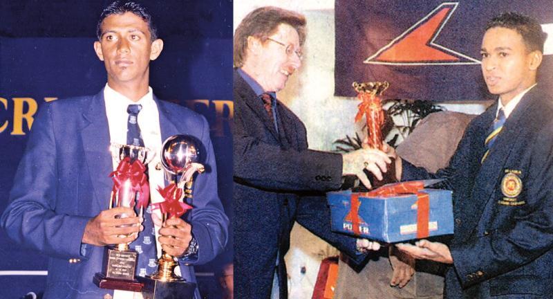 Past winners of the Observer Schoolboy Cricketer : Farveez Maharoof - 2003 Wesley College and Lahiru Peiris - 2004 and 2005 St Peter's College