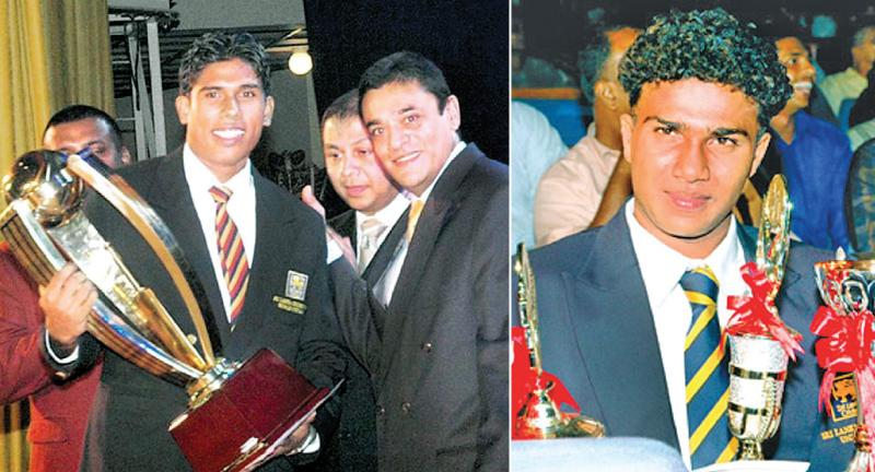 Past winners of the Observer Schoolboy Cricketer : Gihan Rupasinghe, Nalanda College Schoolboy Cricketer Award winner 2006 and Malith Gunetilleke, Ananda College Schoolboy Cricketer Award winner 2007