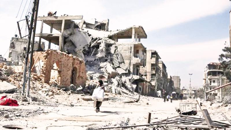 The Eastern Ghouta has been devastated by years of intense bombardment  AFP