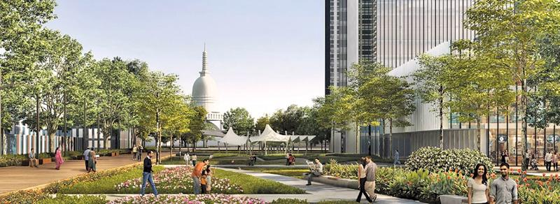 An artist's impression of Colombo Port City.                                                                                                                                                         PIC: CHEC