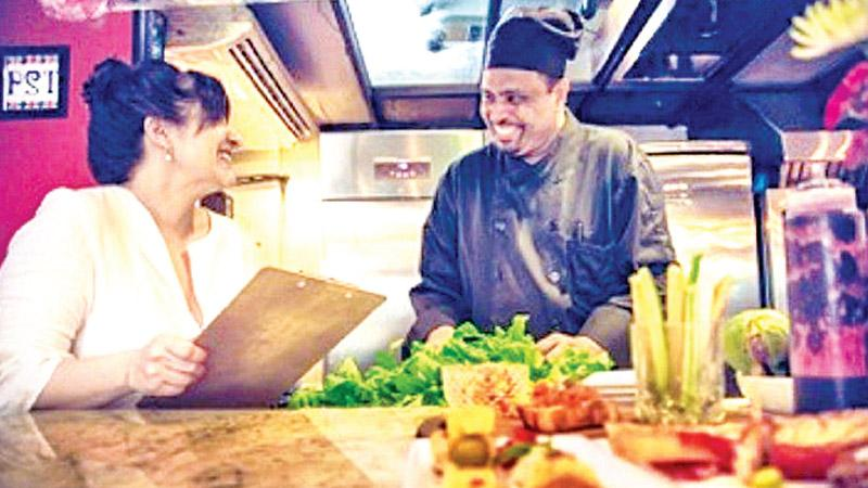 Chef Rukshan Idamalgoda (R) with Chef Chiara