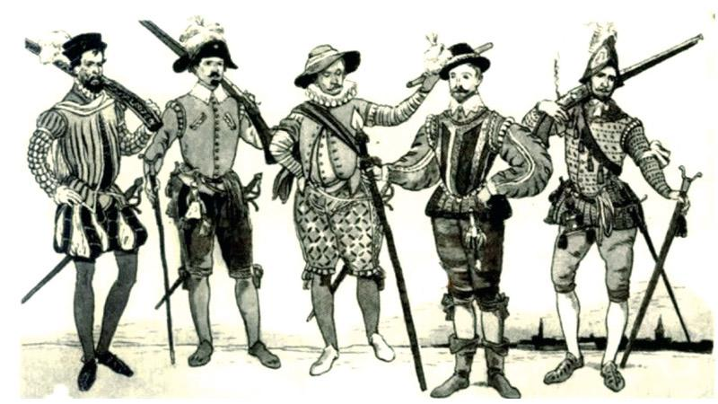 Portuguese soldiers in Ceylon